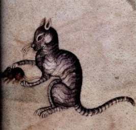 "Illustration from ""Medieval Cats"" by Kathleen Walker-Meikle ( it's on Amazon - click! )"